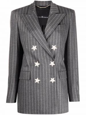 Серый пиджак длинный John Richmond