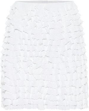 Плиссированная юбка мини с оборками Alaïa