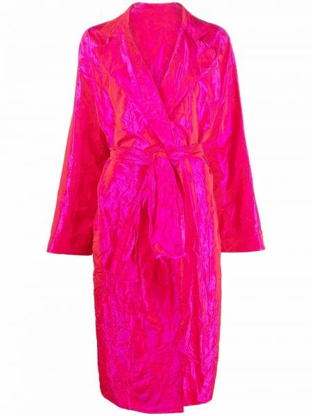 Розовое прямое пальто Daniela Gregis