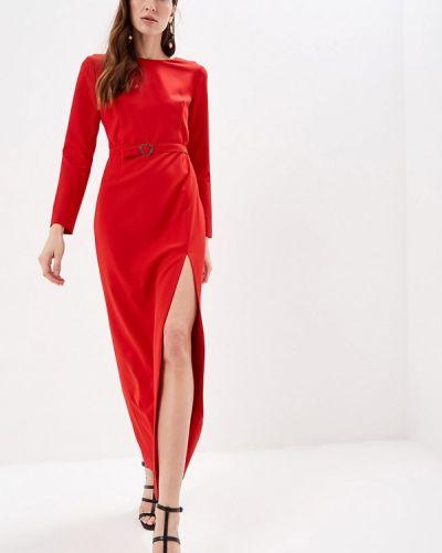 Вечернее платье весеннее красный Self Made