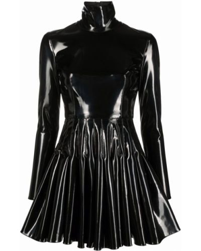 Czarna sukienka długa z długimi rękawami Alex Perry