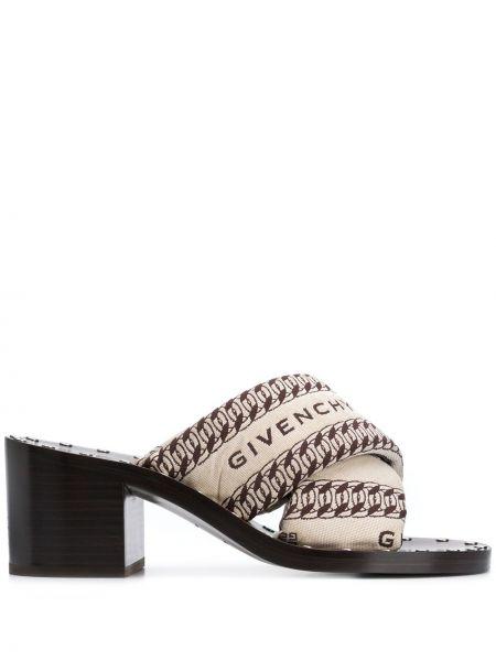 Z paskiem otwarty sandały otwarty palec u nogi z prawdziwej skóry Givenchy