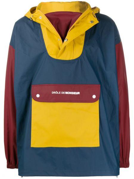 Czerwona kurtka z kapturem z długimi rękawami Drole De Monsieur