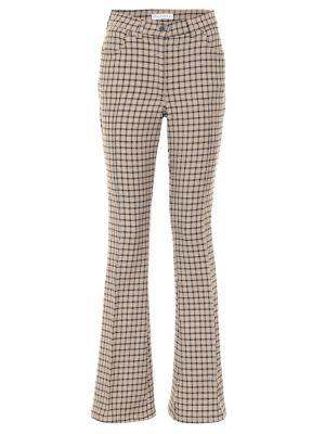 Шерстяные повседневные бежевые расклешенные брюки Jw Anderson