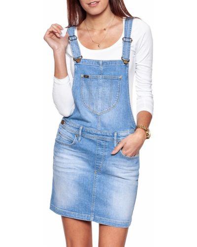 Синий джинсовый сарафан Lee