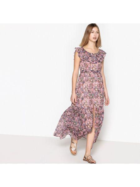 Платье макси с цветочным принтом See U Soon
