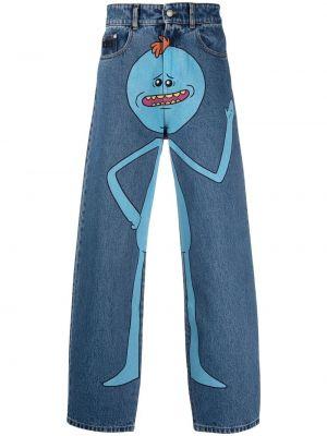Klasyczne niebieskie jeansy z wysokim stanem Gcds