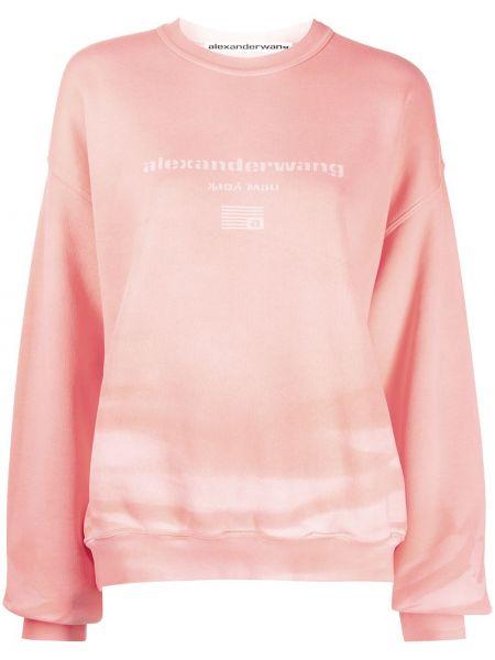 Bluza dresowa - różowa Alexander Wang