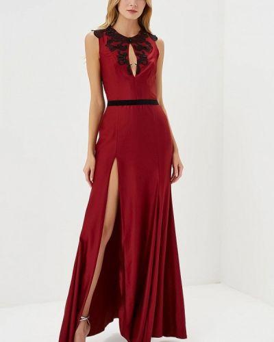 Вечернее платье бордовый красный Ricamare