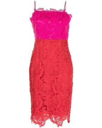Хлопковое кружевное красное платье Milly