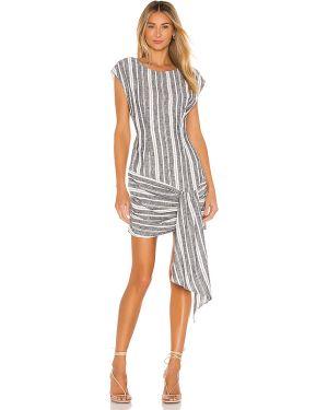 Sukienka mini dżinsowa z suwakiem L'academie
