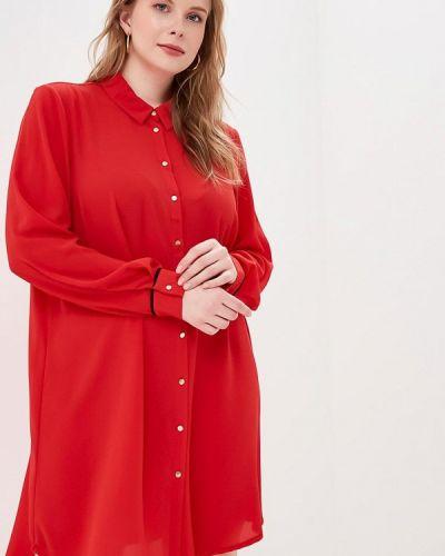 Повседневное платье весеннее красный Zizzi