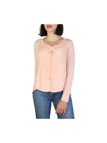 Sweter - różowy Armani Jeans