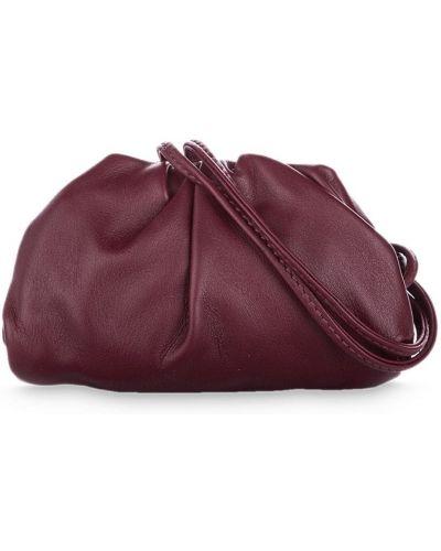 Красный кожаный с ремешком клатч с оборками Bottega Veneta Pre-owned