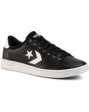 Skórzane sneakersy białe czarne Converse
