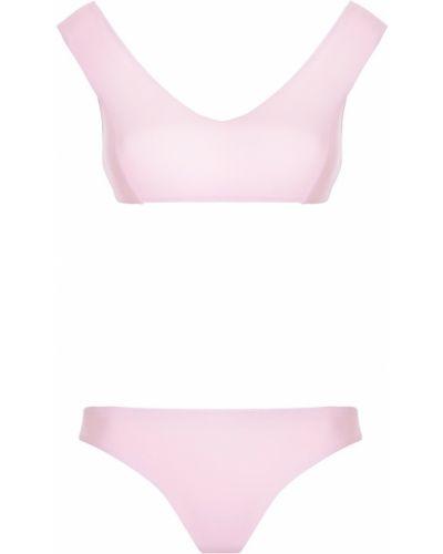 Спортивный купальник розовый раздельный Bodypoetry