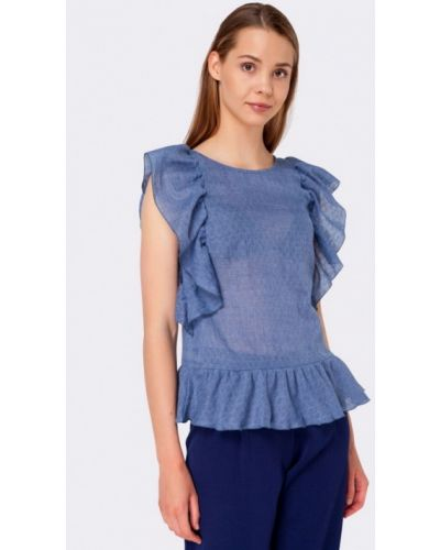 Синяя блузка Cat Orange