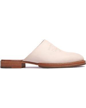 Мюли кожаные на каблуке Hender Scheme