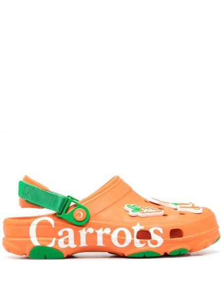 Pomarańczowe klasyczne chodaki Crocs