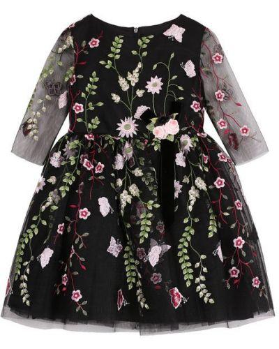 Платье мини с цветочным принтом на молнии David Charles