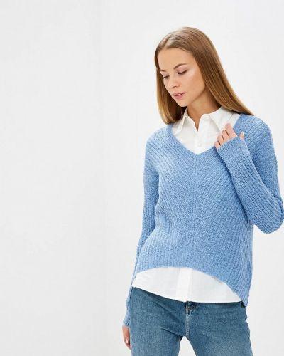 Голубой пуловер Jacqueline De Yong
