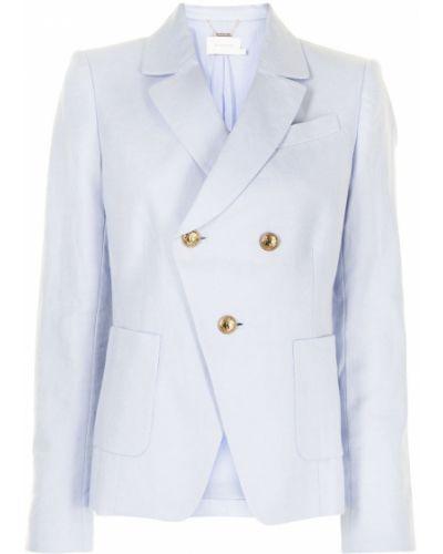 С рукавами синий удлиненный пиджак на пуговицах Zimmermann