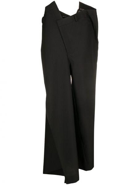 Szerokie spodnie z kieszeniami czarne Junya Watanabe