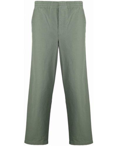 Spodnie bawełniane - zielone Norse Projects