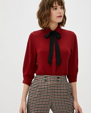 Блузка с бантом бордовый Sweewe
