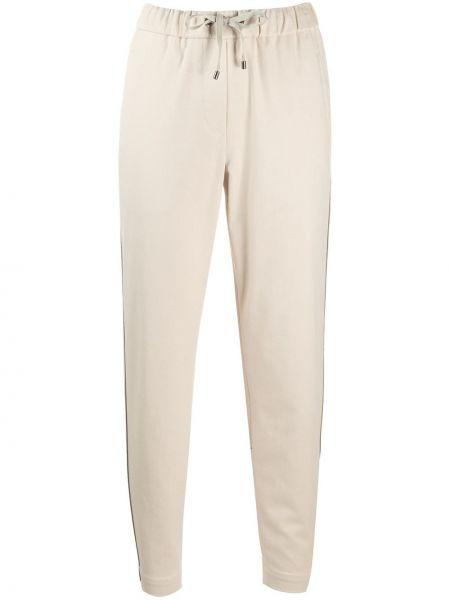 Хлопковые брюки с манжетами с карманами на шнурках Brunello Cucinelli