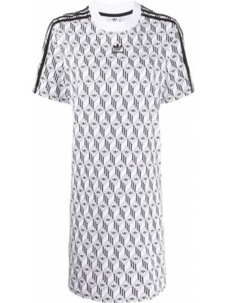 Платье мини короткое - белое Adidas