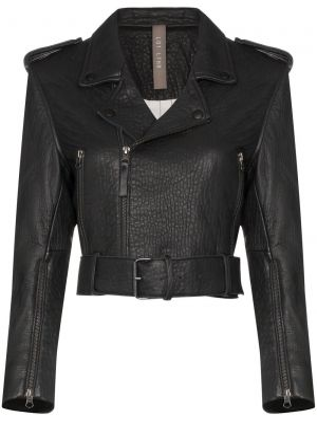 Замшевая черная куртка байкерская Lot Lthr
