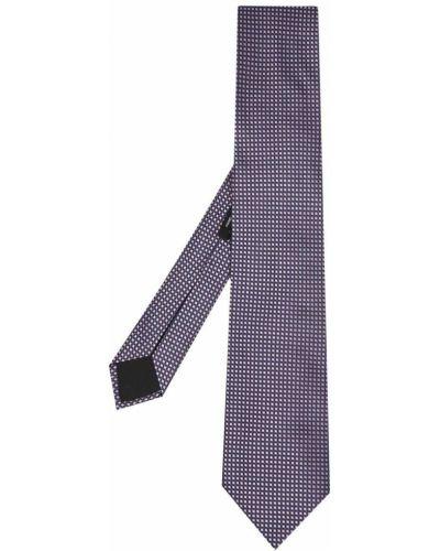 Różowy krawat z jedwabiu w szpic Boss