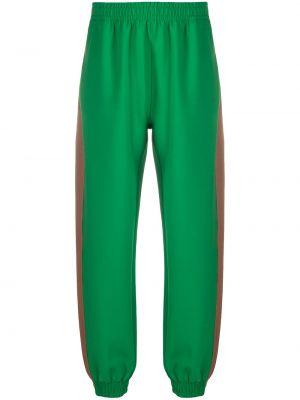 Zielony dres z wiskozy z printem Styland
