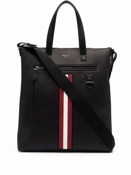 Черная сумка серебристая Bally