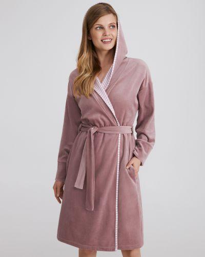 Хлопковый халат - розовый Ellen