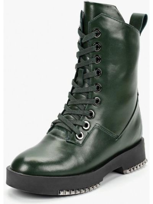 Кожаные ботинки осенние зеленые Vitacci
