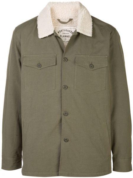 Оливковая фланелевая облегченная куртка Portuguese Flannel