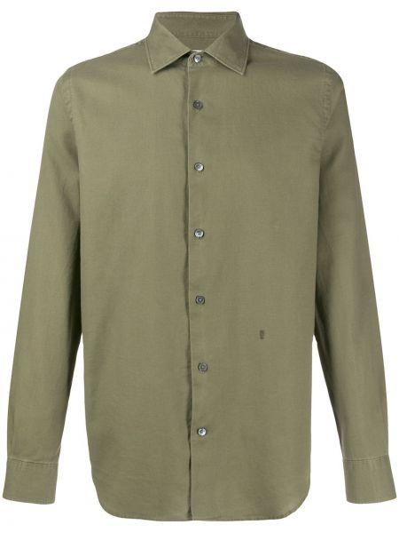 Koszula z długim rękawem klasyczna oliwa Closed