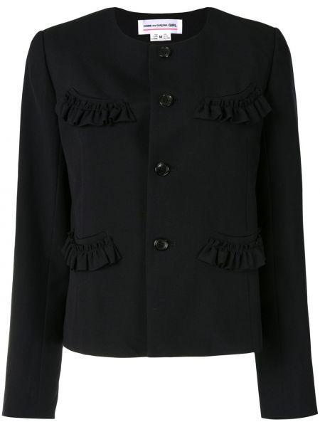 Шерстяной синий пиджак на пуговицах Comme Des Garçons Girl