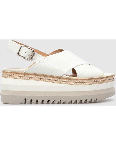 Кожаные сандалии - белые Laura Bellariva