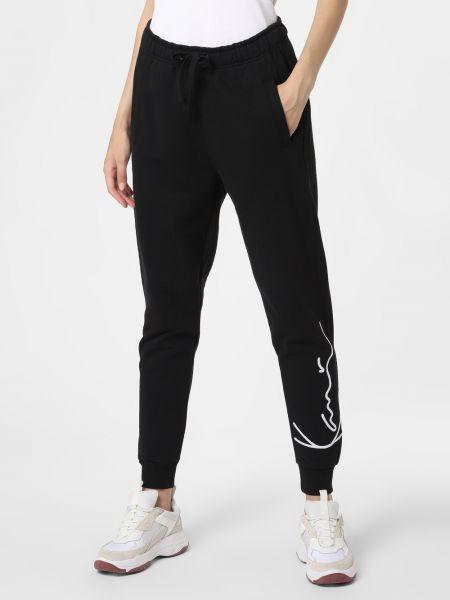 Czarne spodnie z haftem Karl Kani
