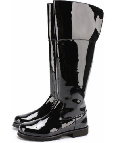 Кожаные сапоги на молнии на каблуке Dolce & Gabbana
