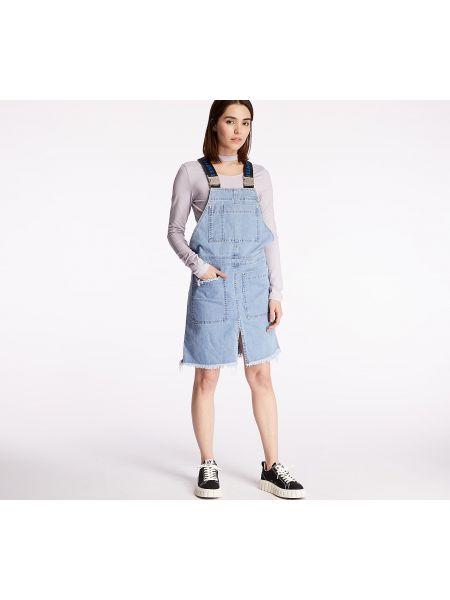 Niebieska sukienka jeansowa Footshop