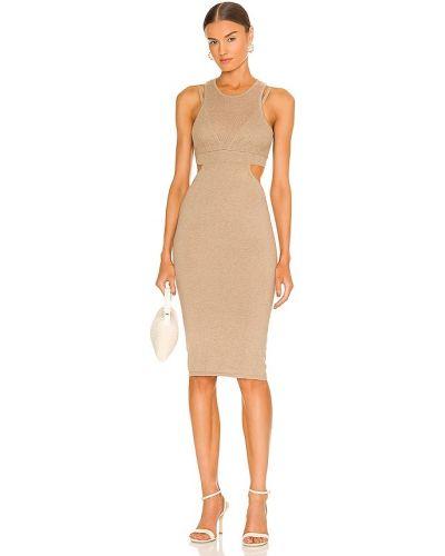 Lniana sukienka - beżowa Atoir