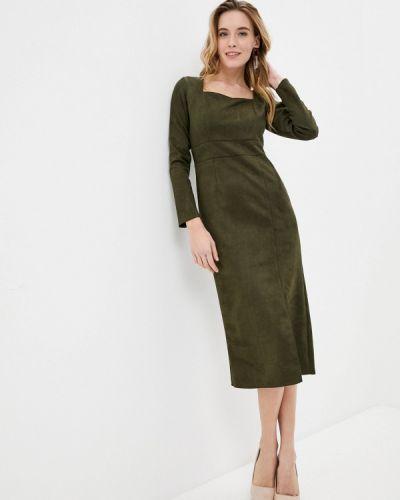 Зеленое платье-футляр Elsi