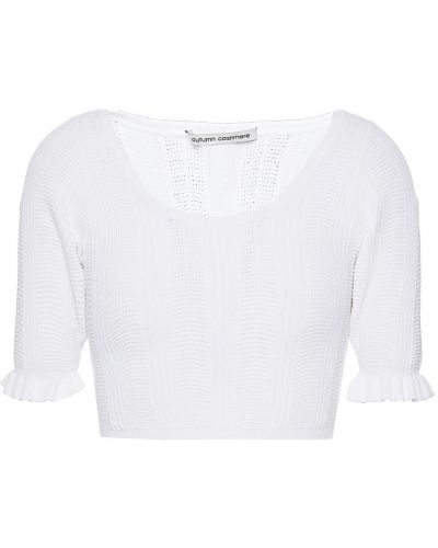 Укороченный топ - белый Autumn Cashmere