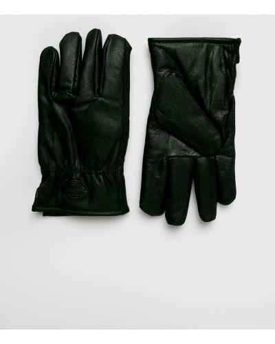 Черные кожаные перчатки Dickies
