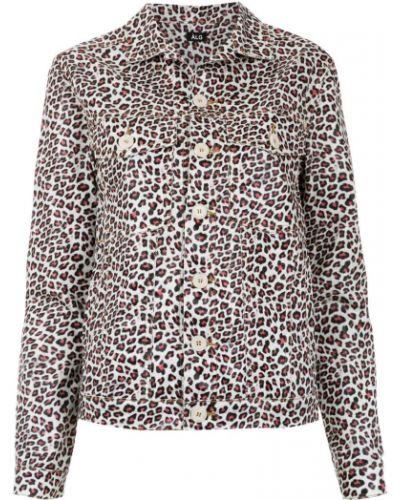 Прямая розовая длинная куртка Lg