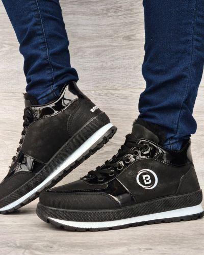 Ботинки с мехом - черные Bromen